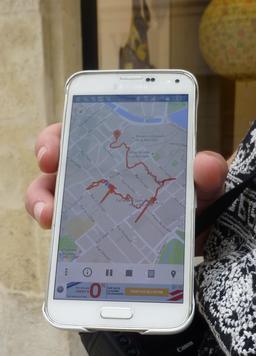 Circuit pédestre GPS à La Rochelle. Source : http://data.abuledu.org/URI/5821fc59-circuit-pedestre-gps-a-la-rochelle