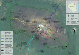 Circuits de randonnée autour du Kilimandjaro. Source : http://data.abuledu.org/URI/52d6d4fa-circuits-de-randonnee-autour-du-kilimandjaro