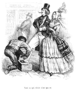 Cireur de chaussures en 1845. Source : http://data.abuledu.org/URI/534fbe19-cireur-de-chaussures-en-1845