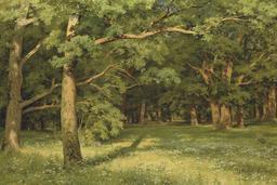 Clairière dans une forêt de chênes. Source : http://data.abuledu.org/URI/51391656-clairiere-dans-une-foret-de-chenes