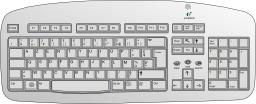 Clavier d'ordinateur. Source : http://data.abuledu.org/URI/50194ee2-clavier-d-ordinateur