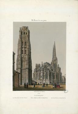 Clocher de Pey-Berland et Abside de la Cathédrale St. André à Bordeaux. Source : http://data.abuledu.org/URI/53446dde-clocher-de-pey-berland-et-abside-de-la-cathedrale-st-andre-a-bordeaux