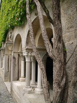 Cloître cistercien de l'abbaye d'Escaladieu. Source : http://data.abuledu.org/URI/5701260e-cloitre-cistercien-de-l-abbaye-d-escaladieu
