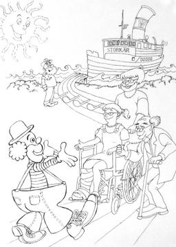 Clown à colorier. Source : http://data.abuledu.org/URI/5347efc1-clown-a-colorier