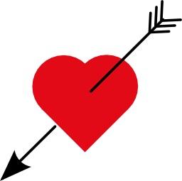 Coeur et flèche. Source : http://data.abuledu.org/URI/539359ab-coeur-et-fleche