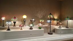 Collection de lampes de Tiffany. Source : http://data.abuledu.org/URI/551bee02-collection-de-lampes-de-tiffany