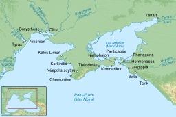 Colonies grecques de la Mer Noire. Source : http://data.abuledu.org/URI/51f30c33-colonies-grecques-de-la-mer-noire