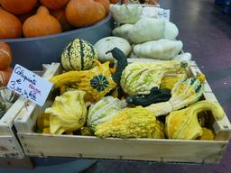 Coloquintes au marché couvert de Nancy. Source : http://data.abuledu.org/URI/581a3901-coloquintes-au-marche-couvert-de-nancy