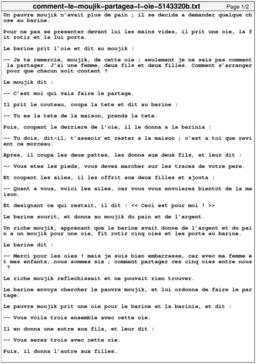 Comment le moujik partagea l'oie. Source : http://data.abuledu.org/URI/5143320b-comment-le-moujik-partagea-l-oie