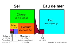 Composition de l'eau de mer. Source : http://data.abuledu.org/URI/55472a68-composition-de-l-eau-de-mer