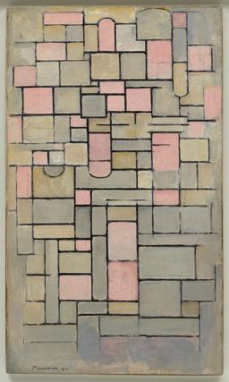 Composition de Mondrian en 1914. Source : http://data.abuledu.org/URI/58597b97-composition-de-mondrian-en-1914