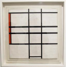 Composition en blanc et rouge de Mondrian. Source : http://data.abuledu.org/URI/54c4b690-composition-en-blanc-et-rouge-de-mondrian