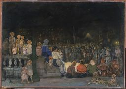 Concert nocturne en plein air en 1910. Source : http://data.abuledu.org/URI/56c63902-concert-nocturne-en-plein-air-en-1910