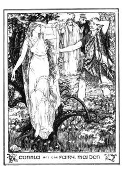 Connla et la fée. Source : http://data.abuledu.org/URI/5196b3b9-connla-et-la-fee