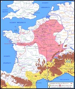 Conquête de la Gaule par César. Source : http://data.abuledu.org/URI/509107c4-conquete-de-la-gaule-par-cesar