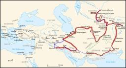 Conquêtes d'Alexandre III. Source : http://data.abuledu.org/URI/51d3bc26-conquetes-d-alexandre-iii-