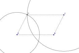 Construction d'un parallélogramme au compas. Source : http://data.abuledu.org/URI/50c4f939-construction-d-un-parallelogramme-au-compas