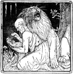 Conte du lion blessé. Source : http://data.abuledu.org/URI/5251c9b1-conte-du-lion-blesse