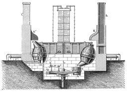 Convertisseur Bessemer. Source : http://data.abuledu.org/URI/56309ea0-convertisseur-bessemer