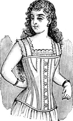 Corset de jeune fille en 1911. Source : http://data.abuledu.org/URI/54db1f22-corset-de-jeune-fille-en-1911