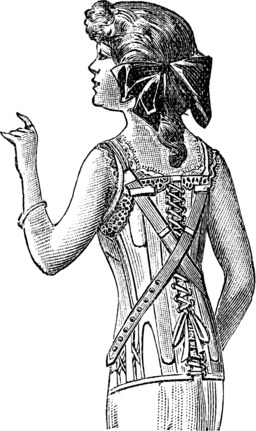 Corset de jeune fille, vu de dos. Source : http://data.abuledu.org/URI/50fd5c5e-corset-de-jeune-fille-vu-de-dos