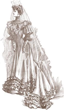 Costume de mariée en 1906. Source : http://data.abuledu.org/URI/53726f34-costume-de-mariee-en-1906