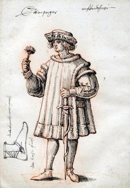 Costume du XVIème siècle. Source : http://data.abuledu.org/URI/51fa32ad-costume-du-xvieme-siecle