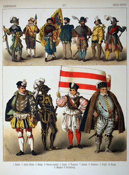 Costumes allemands de la fin du seizième siècle. Source : http://data.abuledu.org/URI/530902dd-costumes-allemands-de-la-fin-du-seizieme-siecle