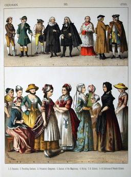 Costumes allemands du dix-huitième siècle. Source : http://data.abuledu.org/URI/530a5349-costumes-allemands-du-dix-huitieme-siecle