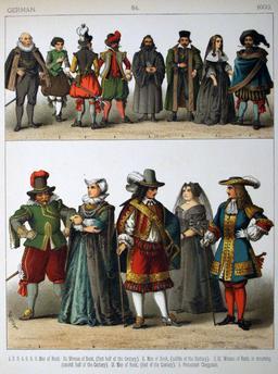 Costumes allemands du dix-septième siècle. Source : http://data.abuledu.org/URI/530912c9-costumes-allemands-du-dix-septieme-siecle