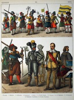 Costumes allemands du dix-septième siècle. Source : http://data.abuledu.org/URI/530921e7-costumes-allemands-du-dix-septieme-siecle