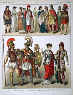 Costumes anciens de l'Asie Mineure. Source : http://data.abuledu.org/URI/530b2d5d-costumes-anciens-de-l-asie-mineure