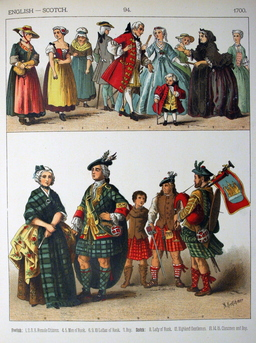 Costumes anglais et écossais du dix-huitième siècle. Source : http://data.abuledu.org/URI/530a4ba3-costumes-anglais-et-ecossais-du-dix-huitieme-siecle