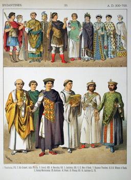 Costumes byzantins. Source : http://data.abuledu.org/URI/530b142a-costumes-byzantins