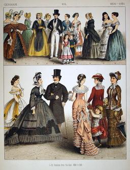 Costumes de ville en Allemagne entre 1834 et 1881. Source : http://data.abuledu.org/URI/530afc54-costumes-de-ville-en-allemagne-entre-1834-et-1881