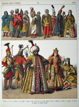 Costumes des maures et des turcs au seizième siècle. Source : http://data.abuledu.org/URI/53086d70-costumes-des-maures-et-des-turcs-au-seizieme-siecle