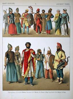 Costumes du Moyen Orient. Source : http://data.abuledu.org/URI/530b844d-costumes-du-moyen-orient