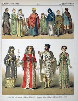 Costumes du temps des premiers chrétiens. Source : http://data.abuledu.org/URI/530b2c21-costumes-du-temps-des-premiers-chretiens