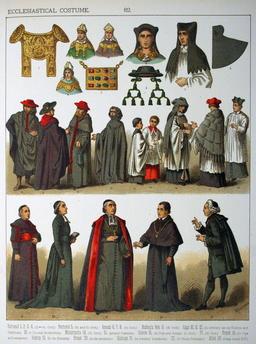 Costumes ecclésiastiques. Source : http://data.abuledu.org/URI/530b8269-costumes-ecclesiastiques