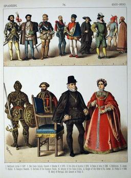 Costumes espagnols du seizième siècle. Source : http://data.abuledu.org/URI/5308dd86-costumes-espagnols-du-seizieme-siecle
