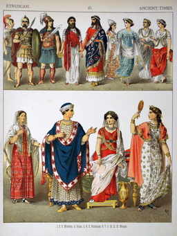 Costumes étrusques antiques. Source : http://data.abuledu.org/URI/530b4350-costumes-etrusques-antiques