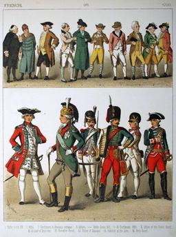 Costumes français du dix-huitième siècle. Source : http://data.abuledu.org/URI/530a4e26-costumes-francais-du-dix-huitieme-siecle