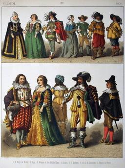 Costumes français du dix-septième siècle. Source : http://data.abuledu.org/URI/5309116d-costumes-francais-du-dix-septieme-siecle