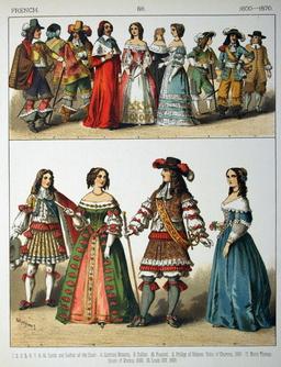 Costumes français du dix-septième siècle. Source : http://data.abuledu.org/URI/5309eafd-costumes-francais-du-dix-septieme-siecle