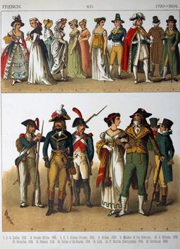 Costumes français sous la révolution. Source : http://data.abuledu.org/URI/530a5b3a-costumes-francais-sous-la-revolution