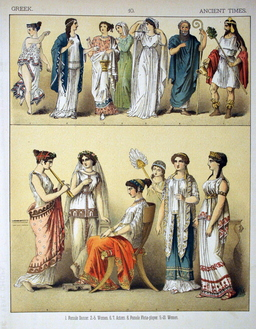 Costumes grecs de l'antiquité. Source : http://data.abuledu.org/URI/530b4617-costumes-grecs-de-l-antiquite