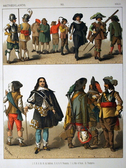 Costumes hollandais du dix-septième siècle. Source : http://data.abuledu.org/URI/5309e6d1-costumes-hollandais-du-dix-septieme-siecle
