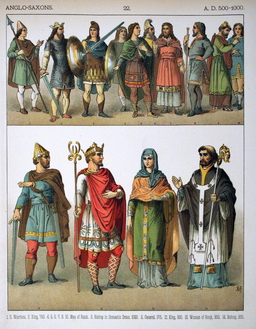 Costumes médiévaux anglo-saxons. Source : http://data.abuledu.org/URI/530b186b-costumes-medievaux-anglo-saxons
