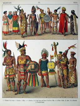 Costumes mexicains du seizième siècle. Source : http://data.abuledu.org/URI/53086485-costumes-mexicains-du-seizieme-siecle