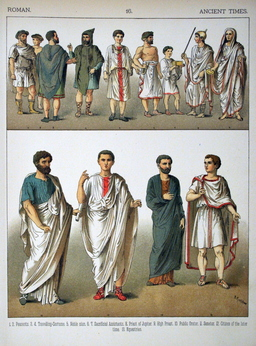 Costumes romains masculins de l'antiquité. Source : http://data.abuledu.org/URI/530b7e41-costumes-romains-masculins-de-l-antiquite